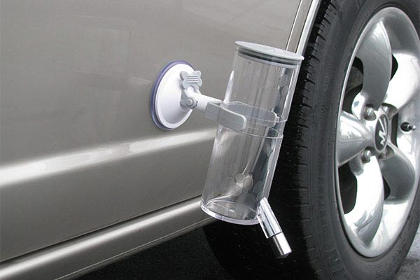 portablepet attachadrink kit on car