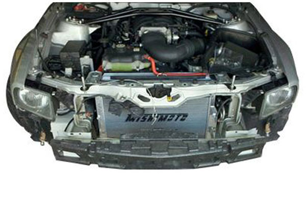 mishimoto ford mustang performance aluminum radiator 2005 2012 27