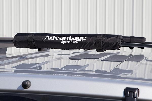 advantage sportsrack roof top cargo cushions installed