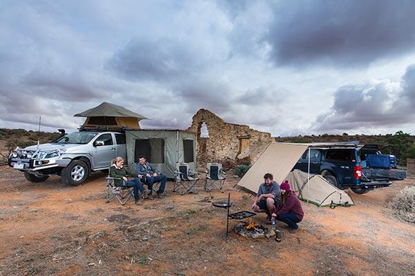 arb awning wind break base camp