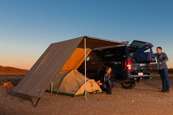 arb awning wind break evening outback