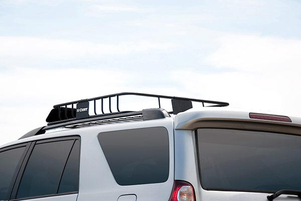 curt roof mounted cargo rack installed