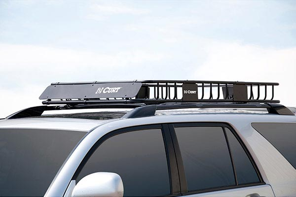 curt roof mounted cargo rack installed front