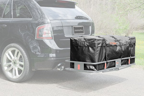 curt waterproof cargo carrier bags installed