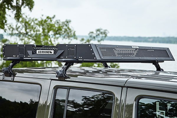 go rhino srm roof rack installed jeep