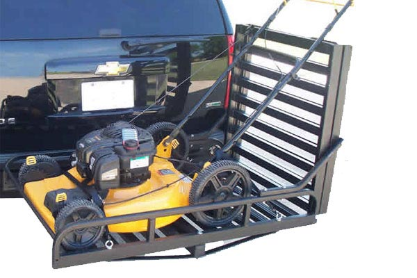 great day hitch n ride rampup cargo carrier mower
