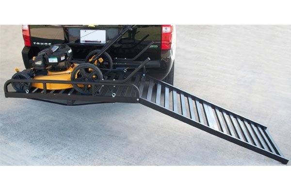 great day hitch n ride rampup cargo carrier mower ramp down