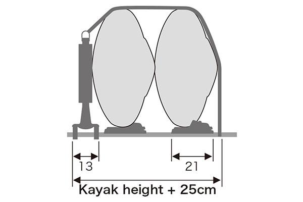 inno-dual-kayak-rack-holds-up-to-two-kayaks