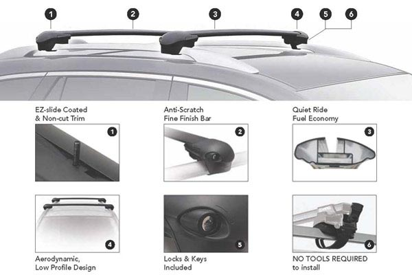 inno aero base rack system features