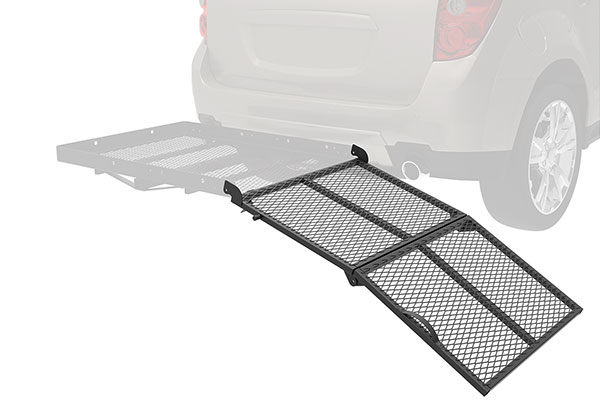 pro series solo hitch mounted cargo carrier ramp accessory