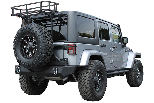 proz premium rock crawler tailgate basket jeep installed