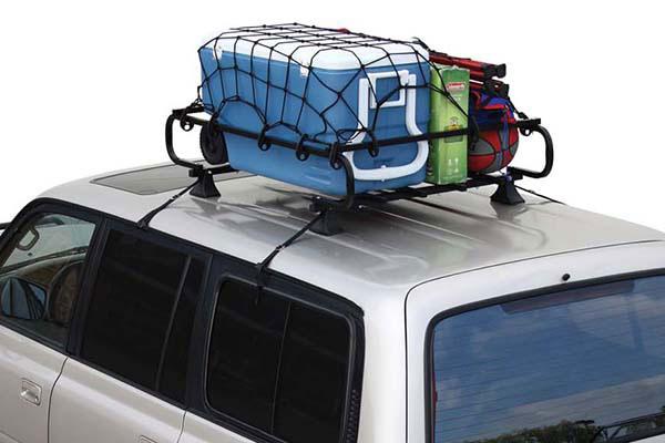 proz roof rack cargo net installed