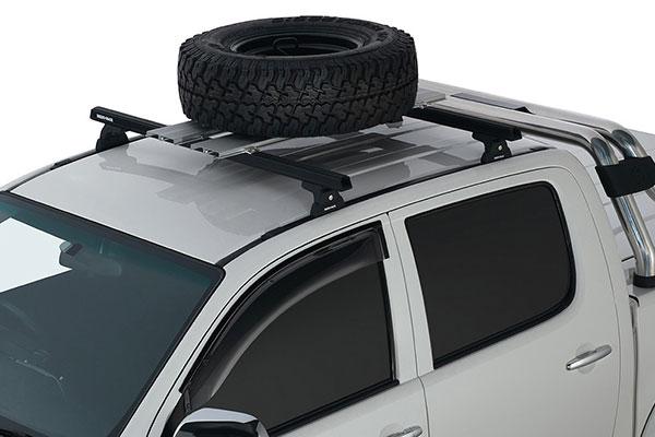rhino rack platform wheel carrier installed