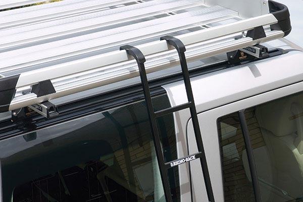 rhino rack folding ladder roof closeup