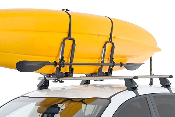 rhino rack j style kayak carrier installed 2