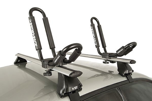 rhino rack j style kayak carrier installed 3