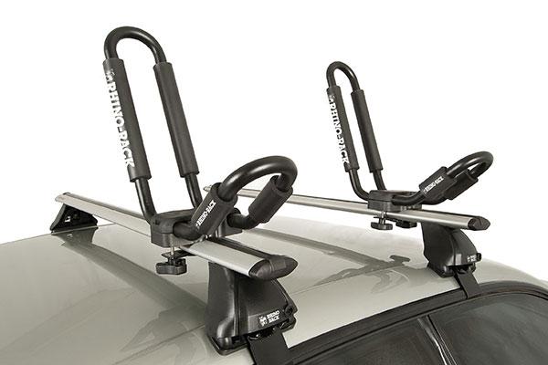 rhino rack j style kayak carrier installed 3