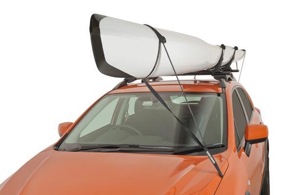 rhino rack kayak tie down strap installed kayak