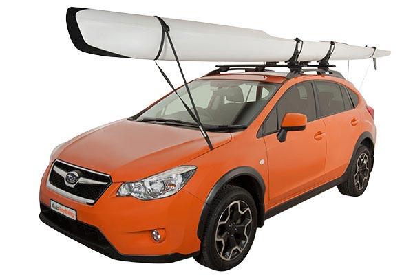 rhino rack kayak tie down strap installed subaru