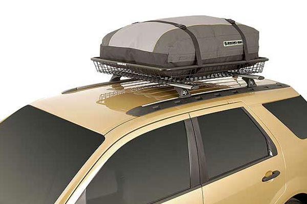 rhino rack luggage cargo bags in basket