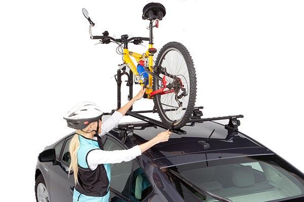 rhino rack mountain trail bike carrier installed
