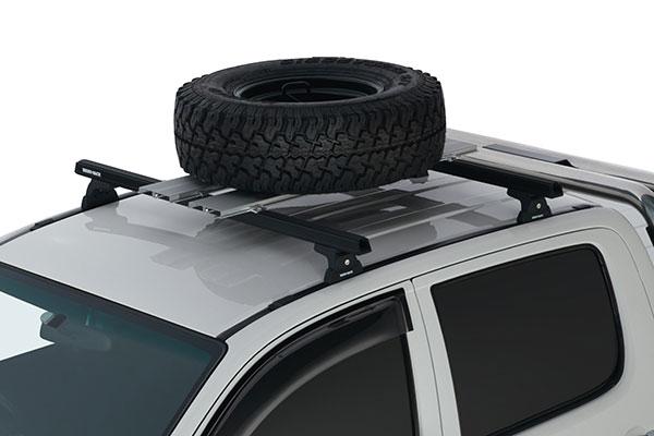 rhino rack platform spare tire carrier installed