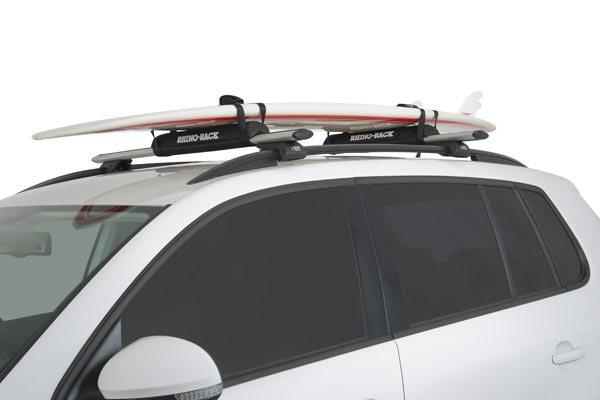 rhino rack roof rack foam wrap pads roof rack surfboard installed