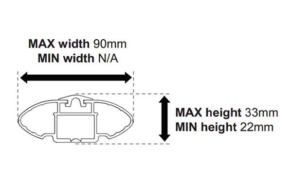rhino rack side profile bar diagram