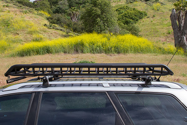 rola vortex roof mounted cargo basket audi allroad installed