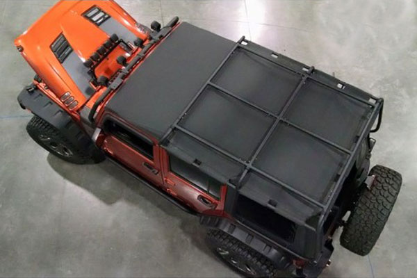 rugged ridge exo top cargo rack system overhead