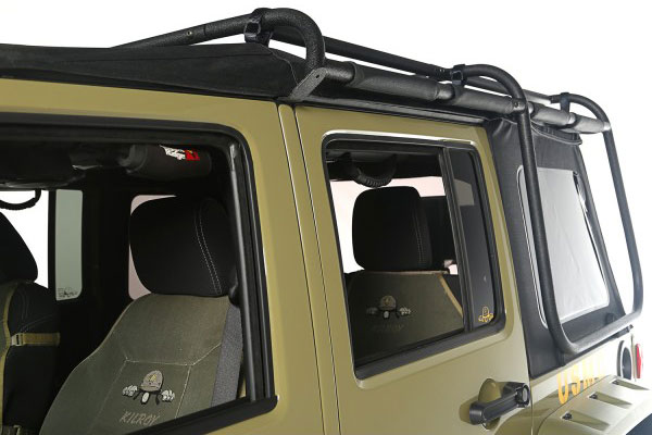 rugged ridge exo top cargo rack system rack side
