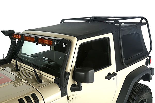 rugged ridge exo top cargo rack system top closed