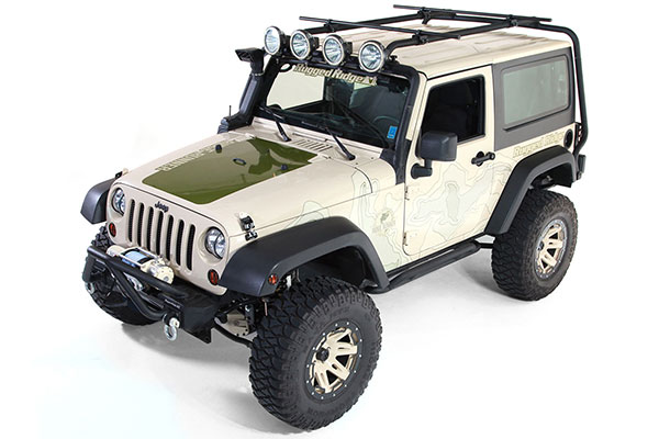 rugged ridge sherpa roof rack cross bars