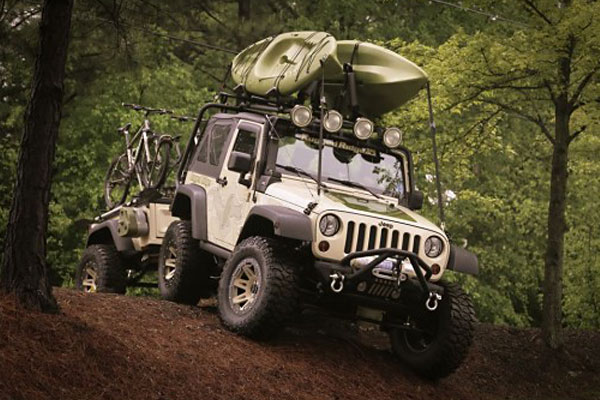 rugged ridge sherpa roof rack lifestyle