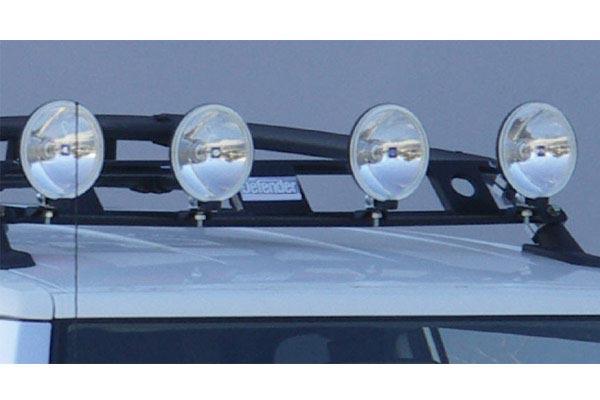 smittybilt defender roof rack light bar installed