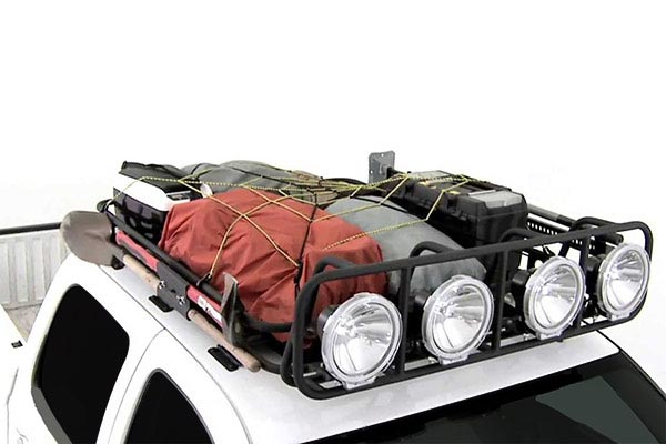 smittybilt defender roof rack loaded