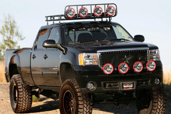 smittybilt defender roof rack on vehicle