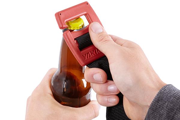 yakima cargopack roof cargo bag bottle opener