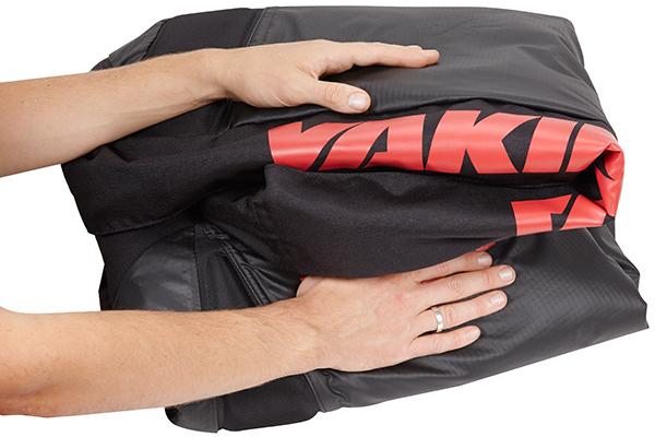 yakima cargopack roof cargo bag folds for storage