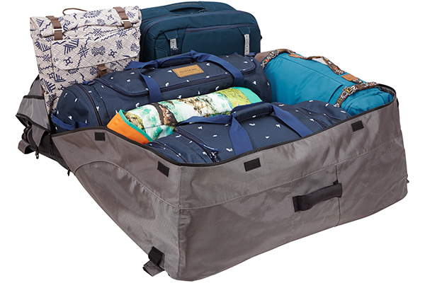 yakima cargopack roof cargo bag luggage loaded