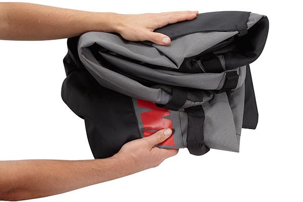 yakima drytop roof cargo bag folds for storage
