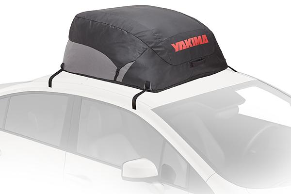 yakima drytop roof cargo bag installed car