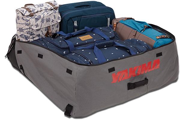 yakima drytop roof cargo bag loaded