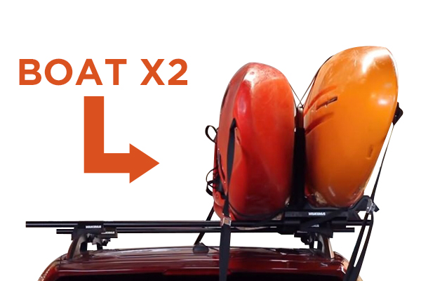 yakima jaylow foldable kayak rack 2 kayaks installed
