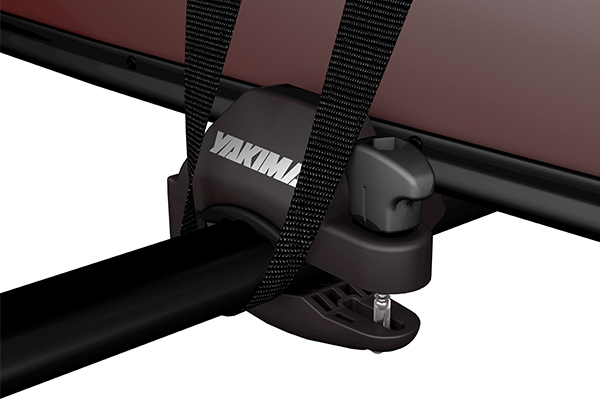 yakima keelover canoe carrier clamp detail