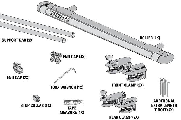 yakima showboat 66 load assist roller kit includes