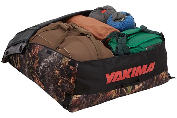 yakima softtop roof cargo bag camo open