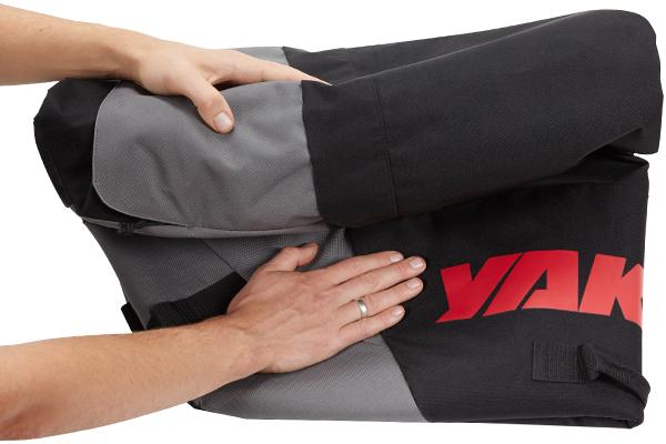 yakima softtop roof cargo bag fold for storage