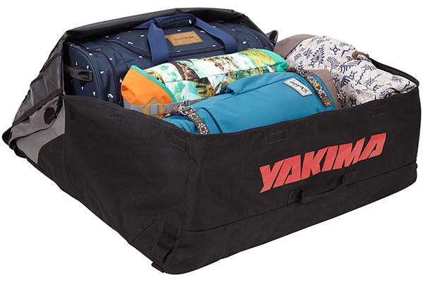 yakima softtop roof cargo bag luggage loaded