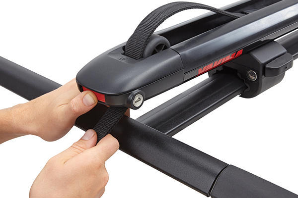 yakima supdawg paddleboard rack integrated strap managment